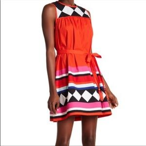 Kate Spade Geo Border Dress size M